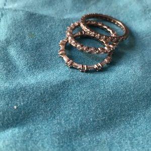 Set Of three 925 stamped eternity rings